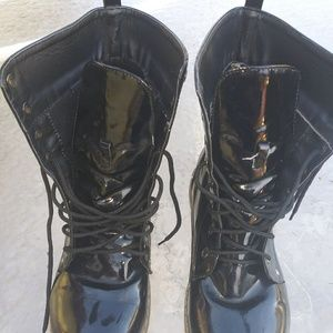 Patent leather boots by